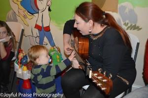 Singing to Mason